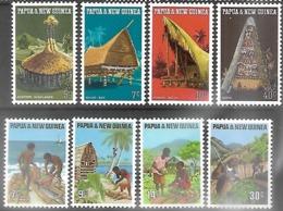 Papua New Guinea   1971    Sc#319-22  & 332-5  Sets  MNH  2016 Scott Value $3.65 - Papua-Neuguinea