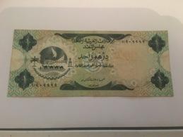 Billet One Dirham United Arab Unis - Emiratos Arabes Unidos