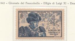 PIA - FRANCIA : 1945 : Effigie Di Luigi XI° . Giornata Del Francobollo - (Yv 743) - Giornata Del Francobollo