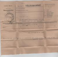 PR7259/ Congo Belge Télégramme Déposé à Verviers > Elisabethville C.Elisabehtville T.S.F. 1947 - Congo Belge