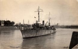 Thematiques Militaria Bateaux Guerre Meuse Photo CP Dorsan St Servan - Warships