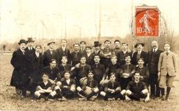 CARTE-PHOTO -  équipe De Football Et Les Dirigeants - à Identifier - Football