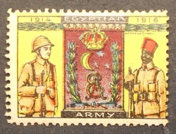 Great Britain 1916 Military Vignette Egyptian Army - Cinderella