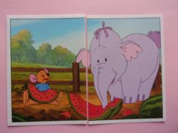 PANINI Winnie L'ourson Et L'éfélant Disney N° 99 & 100 Elefant éléphant Elefante Kangourou Kangaroo Canguro - Panini