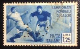REGNO ITALIA  - 2º Campionato Mondiale Di Calcio Emesso Il 24 Maggio 1934 1,25 L. - Scarto-  Perforé Perfin Perforato - 1900-44 Vittorio Emanuele III