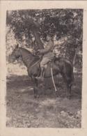 C.P. Militaire En Tenue. Mr Gaudron à Cheval, Sabre, Camp De Bailly 30.08.1922. - Personnages