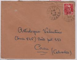 ELOYES (Vosges) 8 8 1950 Sur Gandon 15f - Marcophilie (Lettres)