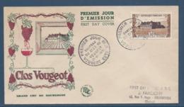 France FDC - Premier Jour - Clos Vougeot - Grand Cru De Bourgogne - 1951 - FDC
