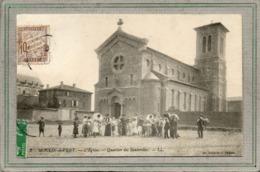 CPA - MOULIN-à-VENT (69) - Aspect De La Place De L'Eglise Du Quartier Des Sauterelles En 1914 - Cortège Du Mariage - Frankreich