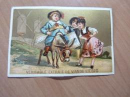 Chromo Liebig. Enfant Sur Un âne. Format; 7 X 10,5 Cm. En Bon état - Liebig