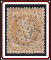 France 1863-1876 - Oblitération De Paris - Etoile 37 Bt Malesherbes Sur N° 28A (YT) N° 28 I (AM). - Marcophilie (Timbres Détachés)