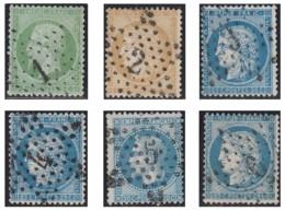 France 1863-1876 - Oblitérations De Paris - Etoiles 1 à 6. - Marcofilia (Sellos Separados)