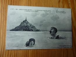 CPA Mont Saint Michel Un Enlisement Dans Les Grèves Edition Spéciale De L'abbaye Hook Sans Date - Altre Illustrazioni