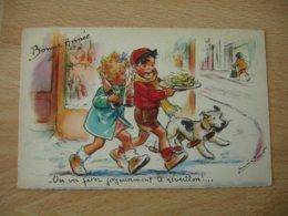 Germaine Bouret Illustrateur On Va Feter Le Reveillon 1949 - Bouret, Germaine