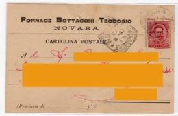 1897 - NOVARA - Pubblicitaria Fornace Bottacchi - Storia Postale - Novara