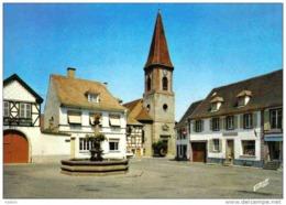 Carte Postale 68. Wettolsheim  Place De Gaulle Trés  Beau Plan - France