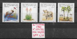 Environnement Antilope Aloe Arbre Nature Fleur Grue Oiseau Palmier - Botswana N°477 à 480 1983 ** - Protection De L'environnement & Climat