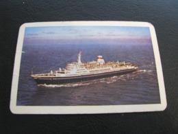 USSR Soviet Russia  Pocket Calendar Morflot Ship 1967 - Calendriers