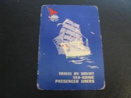 USSR Soviet Russia  Pocket Calendar Travel By Soviet Sea-Going Passenger Liners  Ship 1964 - Calendars