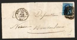 COB 11A 20c Médaillon Léopold I Sur Lettre - 1858-1862 Medaillen (9/12)