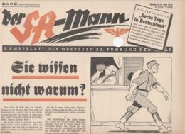 Der SA-Mann, Kampfblatt Der Obersten SA-Führung,May 14 Th 1938,20.Folge,NSDAP - Kids & Teenagers