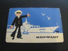 USSR Soviet Russia  Pocket Calendar Morflot  Ship 1970 - Calendars