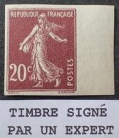 R1189/17 - 1907 - TYPE SEMEUSE - N°139d NON DENTELE NEUF** BdF ☛☛☛ Signé Par Un Expert - Frankreich