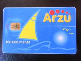 VERY DIFFICULT  CARD   ARZU    CHIP 2  100.000 - Azerbaïjan