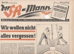 Der SA-Mann, Kampfblatt Der Obersten SA-Führung,April 30 Th 1938,18.Folge,NSDAP - Kids & Teenagers
