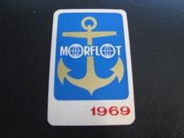 USSR Soviet Russia  Pocket Calendar Morflot  Ship 1969 Rare - Calendriers