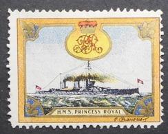Great Britain 1916 Military Vignette HMS Princess Royal - Cinderellas