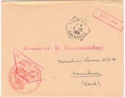 AGENCE POSTALE CAEN AIR SUR ENVELOPPE EN FRANCHISE - Marcofilia (sobres)
