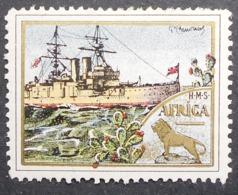 Great Britain 1916 Military Vignette HMS Africa - Cinderellas