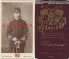 CDV Vers 1882 Officier Du 90e R-photo Dorsand à Chateauroux (Indre) - Krieg, Militär