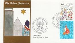 Vaticano 1987 Uf. 825 San Nicola Da Bari Myra FDC Prime Die Golden Series Con Certificato - FDC