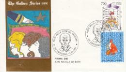 Vaticano 1987 Uf. 826 San Nicola Da Bari Myra FDC Prime Die Golden Series Con Certificato - FDC