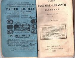 LANDES - GRAND ANNUAIRE / AMANACH - Année 1879 - Calendriers