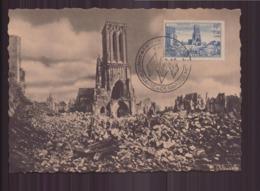 CARTE MAXIMUM DU 6 JUIN 1946 CAEN EXPOSITION PHILATELIQUE / ANNIVERSAIRE DU DEBARQUEMENT - Cartes-Maximum