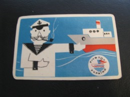USSR Soviet Russia  Pocket Calendar Rechflot Of The Ukraine Ship 1970 - Calendars