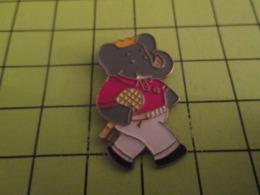 1118b Pin's Pins / Beau Et Rare / THEME ANIMAUX / BABAR LE ROI DES ELEPHANTS VA JOUER AU TENNIS Glandeur !! - Animaux