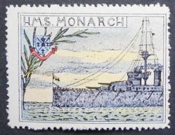 Great Britain 1916 Military Vignette HMS Monarch - Cinderellas
