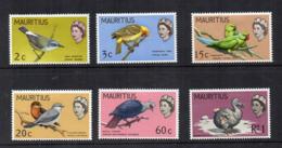 MAURITIUS - 1968 - Uccelli - 6 Valori - Nuovi - Linguellati * - (FDC17126) - Mauritius (1968-...)