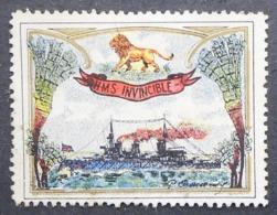 Great Britain 1916 Military Vignette HMS Invincible - Cinderellas