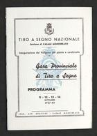 Tiro A Segno Nazionale - Sezione Di Casale - Gara Provinciale - Programma - 1937 - Other