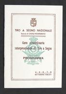 Tiro A Segno Nazionale - Sezione Di Casale - Gara Straordinaria Programma - 1936 - Other