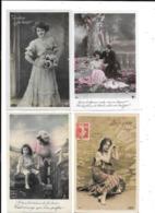 11248 - Lot De 300 CPA Fantaisies, Hommes, Femmes, Enfants,fleurs - 100 - 499 Cartes