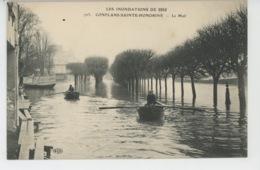 CONFLANS SAINTE HONORINE - INONDATIONS 1910 - Le Mail - Conflans Saint Honorine