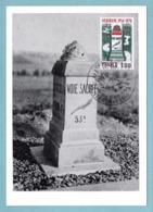 Carte Maximum 1976 - Verdun - La Voie Sacrée - YT 1883 - 55 Verdun Et Paris - 1970-79