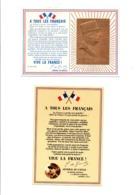 2 C P A SUR LE GENERAL DE GAULLE LETTRES A TOUS LES FRANCAISUNE PORTRAIT OR 24 CARATS CIRCULEE 1997 - Personnages