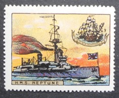 Great Britain 1916 Military Vignette HMS Neptune - Cinderellas